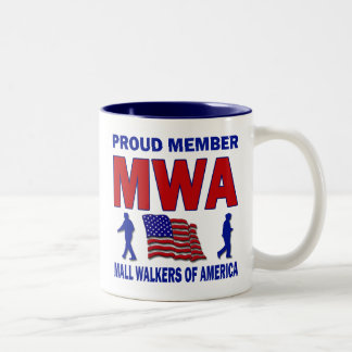 MALL WALKERS OF AMERICA Two-Tone COFFEE MUG