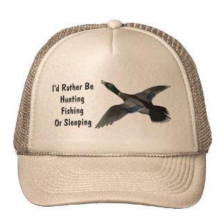 Mallard Drake Duck Wildlife Bird Cap