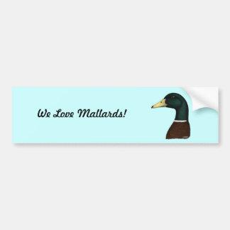 Mallard Drake Head Bumper Sticker