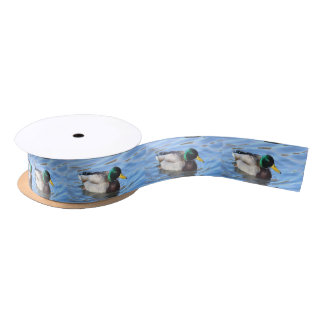 Mallard duck satin ribbon