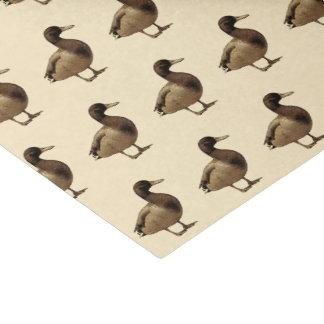 Mallard Duck Sepia Tone Tissue Paper