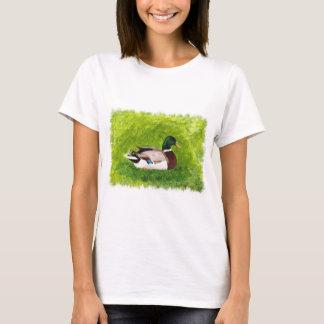 Mallard Duck Sitting in Grass Tshirts
