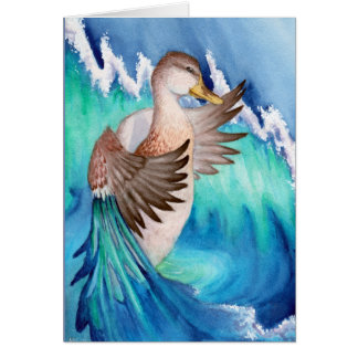 """Mallard Duck Surreal Dreams "" Card"