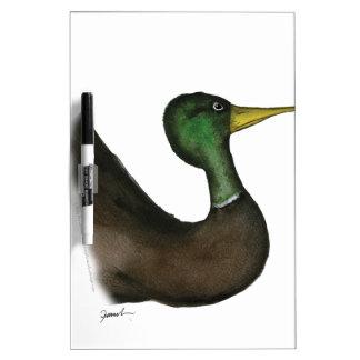 mallard duck, tony fernandes Dry-Erase whiteboard