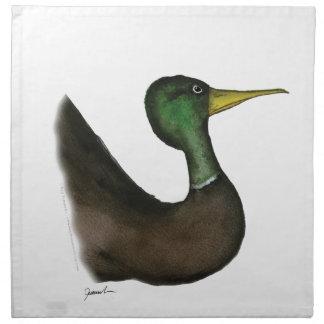 mallard duck, tony fernandes napkin