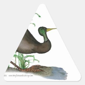 mallard duck, tony fernandes triangle sticker