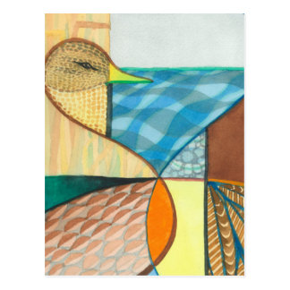 """Mallard Duck """"Waterfowl I"""" Design Postcard"""