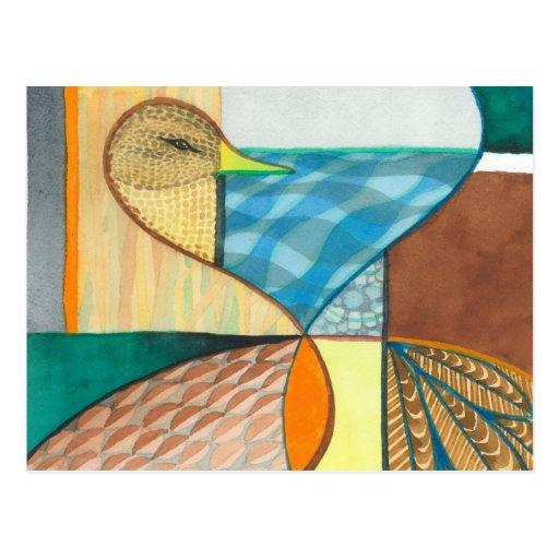 """Mallard Duck """"Waterfowl I"""" Design Post Card"""