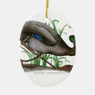 mallard duck - wild bird, tony fernandes christmas ornament