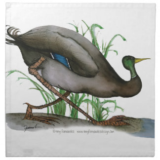 mallard duck - wild bird, tony fernandes cloth napkin