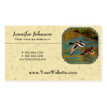 Mallard Ducks Flying Yellow Pack Of Standard Business Cards
