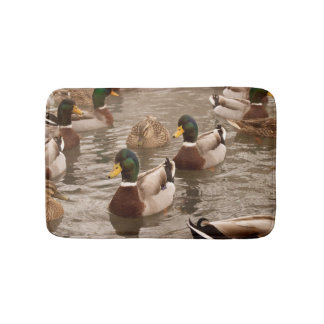 Mallard Ducks on Pond Bath Shower Mat