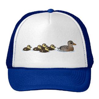 Mallard & five ducklings cap