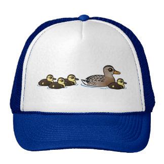 Mallard & four ducklings cap