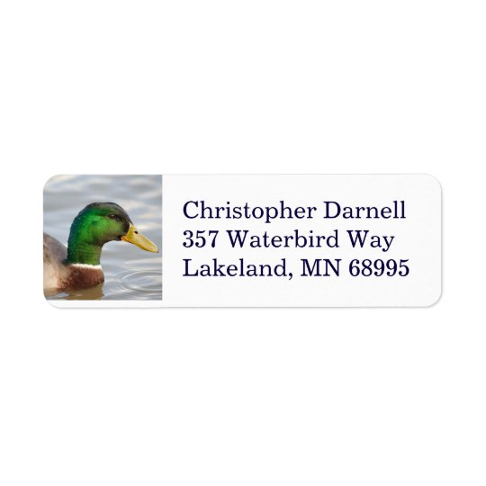 Mallard return address label