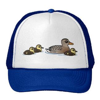 Mallard & three ducklings cap