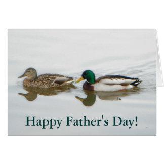Mallards Father's Day Greeting Card