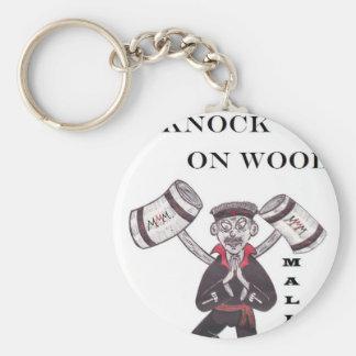Mallets - Knock Knock Knock on wood Key Ring