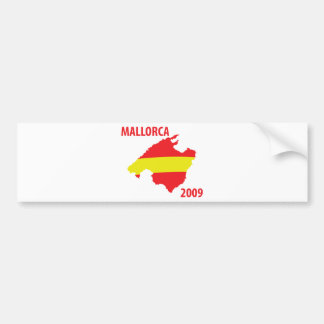 mallorca 2009 icon bumper sticker