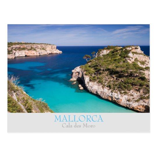 Mallorca - Cala des Moro with text postcard