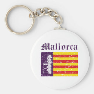 Mallorca City designs Basic Round Button Key Ring