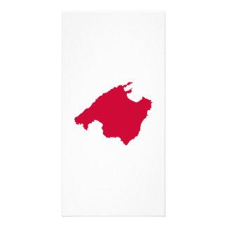 Mallorca map picture card