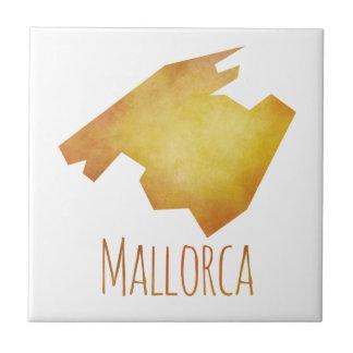 Mallorca Map Small Square Tile