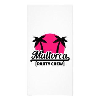 Mallorca Party Crew Photo Card Template