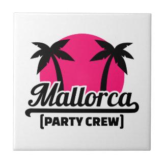 Mallorca Party Crew Small Square Tile