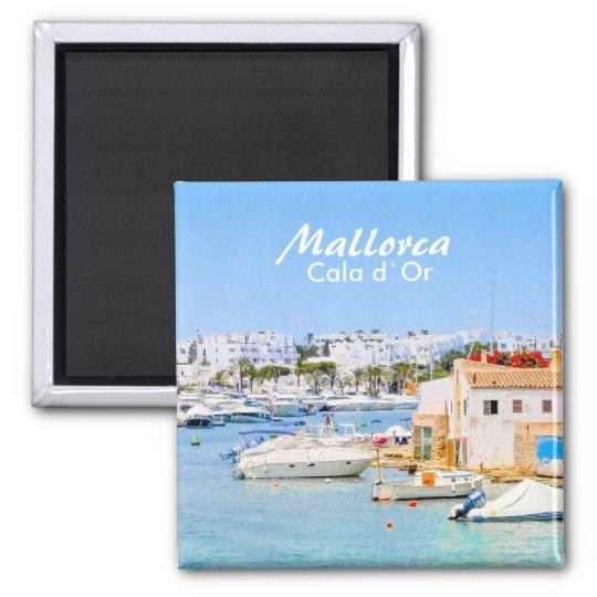 Mallorca Port of Cala d`Or Souvenir Square Magnet
