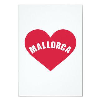 Mallorca red heart custom invite