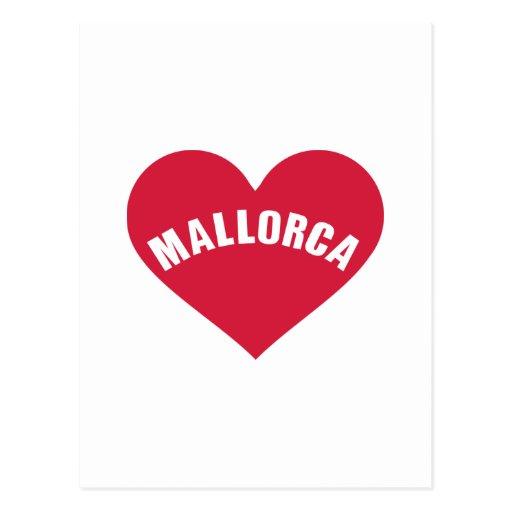 Mallorca red heart post card