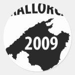 mallorca round sticker