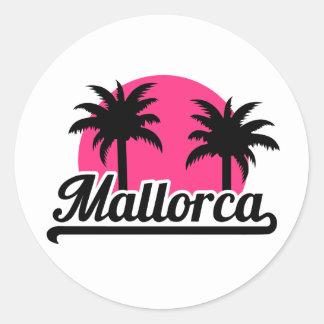Mallorca Round Stickers