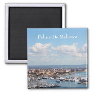 Mallorca seascape square magnet