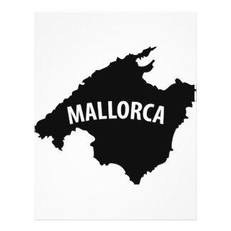 mallorca spain contour icon 21.5 cm x 28 cm flyer
