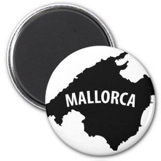 mallorca spain contour icon 6 cm round magnet