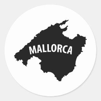 mallorca spain contour icon classic round sticker