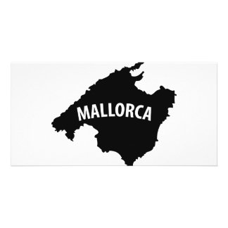 mallorca spain contour icon picture card