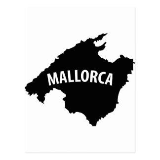mallorca spain contour icon post cards