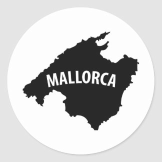 mallorca spain contour icon round sticker