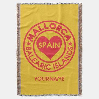 Mallorca Spain custom monogram & color blanket