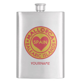 MALLORCA Spain custom monogram flask