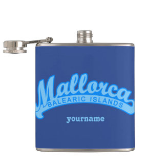 MALLORCA Spain custom monogram flasks