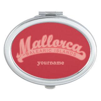 MALLORCA Spain custom monogram pocket mirror
