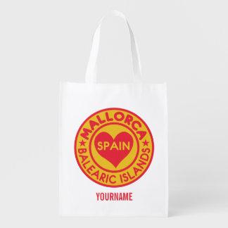 MALLORCA Spain custom monogram reusable bag