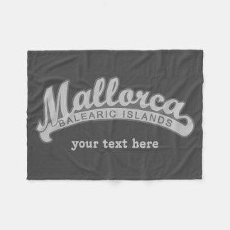 MALLORCA Spain custom text & color fleece blankets