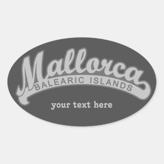 MALLORCA Spain custom text & color stickers