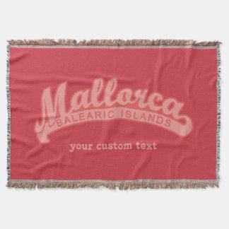 MALLORCA Spain custom text & color throw blanket