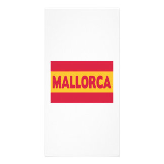 Mallorca Spain flag Personalized Photo Card
